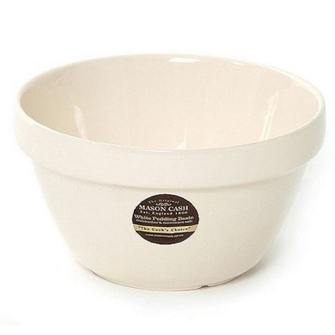 Mason Cash White Pudding Basin Bowl 20cm Size 24